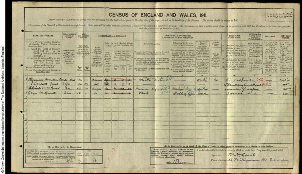 darn o 1911 cyfrifiad