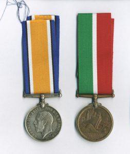 Medalau Rhyfel Byd Cyntaf