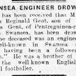 Newspaper article - Swansea Engineer drowned